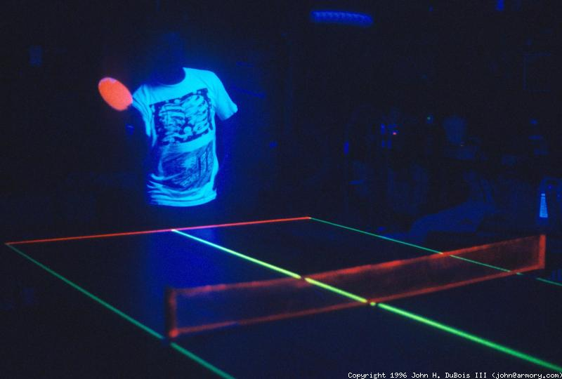 Black Light Ping Pong