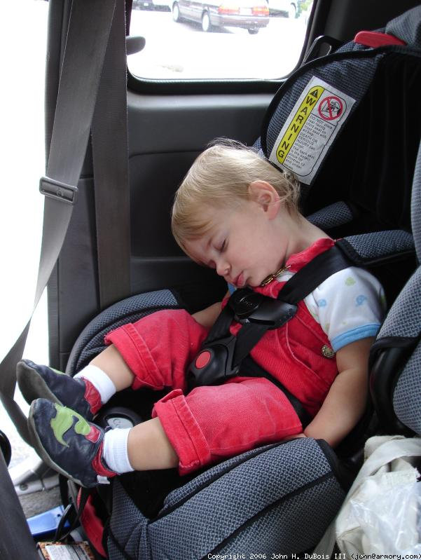 Asleep in the Truck
