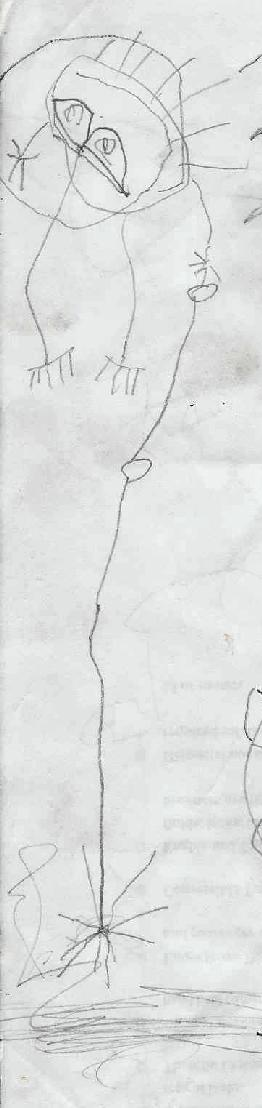 John's drawing, 'Man with a Rake'