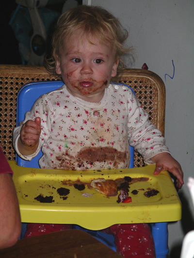 Katie eats...