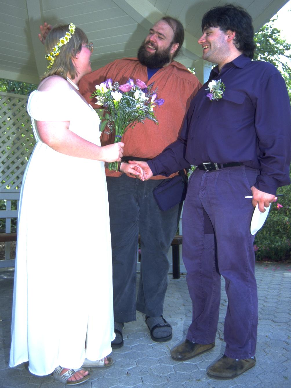 Richard was the officiant