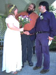 with Richard, the officiant