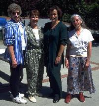 Sandy's mother LaVera, Aunt Jan, Lili, me