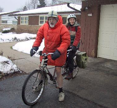 Eli & Thelma on the tandem