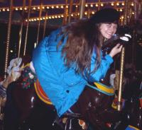 Liz on Carousel